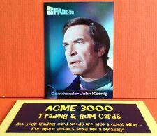 Gerry anderson space 1999 imparable miroir foil carte F2 commandant john koenig