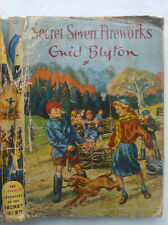 ENID BLYTON.SECRET SEVEN FIREWORKS.H/B D/J 1965 4TH IMP.ILLS,BURGESS SHARROCKS