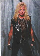 MOTLEY CRUE Vince in chains and leather magazine PHOTO / Pin Up /Poster 11x8""