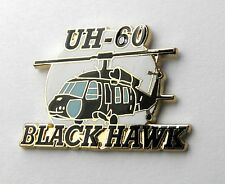 SIKORSKY BLACK HAWK UH-60 HELICOPTER US ARMY AVIATION LAPEL PIN BADGE 1.2 INCHES