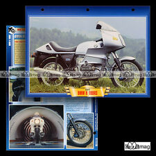 #021.05 Fiche Moto BMW R 100 RS 1976-84 Motorrad Motorcycle Card