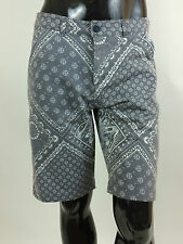 GSUS SINDUSTRIES New Man Bandana Shorts Size XS Colar Grey