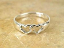 CUTE STERLING SILVER HEART TOE RING BABY RING size 3  style# r0553
