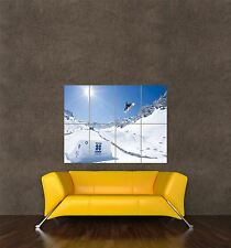 POSTER PRINT PHOTO WINTER SPORT SNOW SNOWBOARD SNOWBOARDER SUN JUMP AIR SEB320