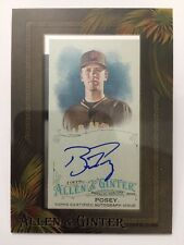 Buster Posey Mini Auto 2016 Topps Allen & Ginter Framed Autograph