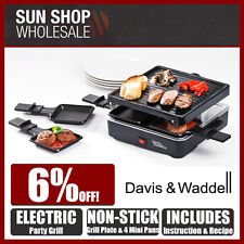 100% Genuine! DAVIS & WADDELL Taste 4 Person Electric Party Grill Black!