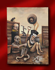 DAVID WHITLAM ARTIST ORIGINAL SURREALIST VISIONARY OIL PAINTING NORTHERN ARTIST