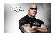 DWAYNE JOHNSON - THE ROCK AUTOGRAPHED SIGNED A4 PP POSTER PHOTO 1