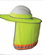 Hi Vis Full Brim Hard Hat Sun ShadeHigh Visisbility With added Reflective Stripe