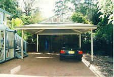 Carport 6 x 6 Free standing Colorbond Kit Gable end pitched roof