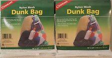 2PK DUNK BAG-NYLON MESH-LAUNDRY-WASH-TOTE-FISH-GAME-TOYS-FOOD 19 X 23 DRAWSTRING