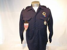 Vintage French Foreign Military Police Nationale GSP Cannes Uniform Shirt Combat