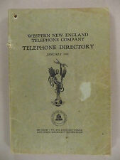 Western New England PHONE BOOK - January, 1942 -- Telephone Directory
