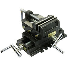 "Cross Slide Vise 4"" inch Wide Drill Press X - Y Clamp Milling Heavy Duty 2 Way"