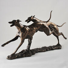 Bronze greyhound whippet sculpture racing dog statue trophée ornement réduit