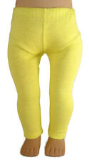 "Yellow Leggings fits 18"" American Girl Doll Clothes Accessories"
