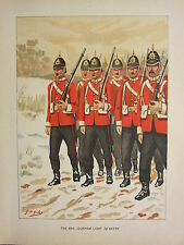 1905 ANTIQUE MILITARY PRINT ~ 68th DURHAM LIGHT INFANTRY BRITISH IMPERIAL FORCES
