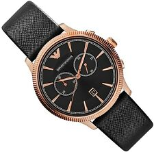 EMPORIO ARMANI MEN'S WATCH AR1792 ALPHA CHRONOGRAPH - BRAND NEW WITH CERTIFICATE