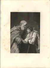 Stampa antica RITORNO DEL FIGLIOL PRODIGO Vangelo Spada 1857 Antique print