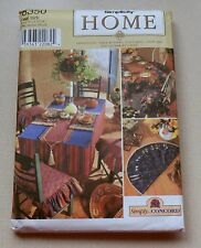 Simplicity Home Pattern 8350 Chair Cushions Place Mats Table Runners & Much More