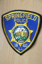 Patches- SPRINGFIELD ILL USA POLICE DEPT PATCH (NEW* apx.10.5x9 cm)