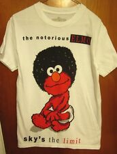 NOTORIOUS ELMO med T shirt Sesame Street hip hop parody Sky's the Limit rap tee