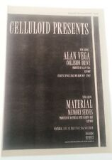 ALAN VEGA (SUICIDE) Collison Drive 1981 UK Poster size Press ADVERT 16x12 inches