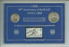 The Royal Air Force RAF British Army Armed Forces WWI WWII Coin & Stamp Gift Set