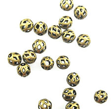 100 Antique Gold Plated Filigree Cut Out Beads 4MM