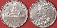 Almost Uncirculated 1936 Canada Silver 1 Dollar