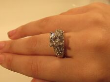 Big Bling Ring  Sterling Large Round CZ  Loaded with CZ's 12/18/2 ebay  BLING