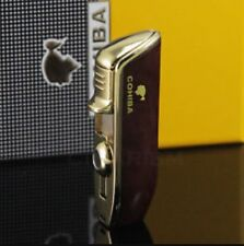Mahogany Cohiba Triple Jet Lighter In Gift Box. Cigarette / Cigar Lighter