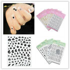 Gold Black 3D Lots Decal Stickers Nail Art Tip DIY Decoration stamping Manicure