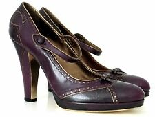 MU MIU BY PRADA PLATEAU-PUMPS HIGH HEELS PURPLE GR:40,5 NEU !!!
