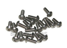 20-SS M4 X 10MM BH BUTTON ALLEN HEAD STAINLESS STEEL TYPE A2 MACHINE SCREWS 4MM