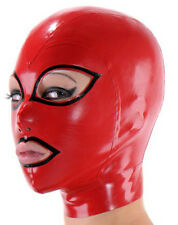 sexy natrual latex rubber unisex hood mask gummi 0.4mm for party wear unique new