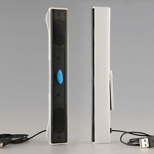 White Digital Media Sound Bar PC Speaker USB For Laptop Notebook iPhone