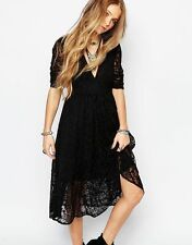 NWT Free People 8 Mountain Laurel Lace Embroidered Boho Festival Gypsy Dress