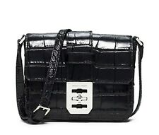 Michael Kors Mila Small Messenger Black small Embossed messenger MSRP $298