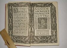 IVANHOE BY SIR WALTER SCOTT vintage collectible cloth bound book 1919