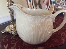 Lenox China Water Pitcher Tankard Ivory & Gold Cabbage Leaf Cottage