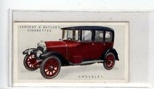 (Jd5985) LAMBERT & BUTLER,MOTOR CARS,A SERIES,CROSSLEY,1922,#4