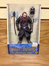 GIMLI Dwarf with Axe Weapons Helmet Action Figure ToyBiz 2003 Lord of the Rings