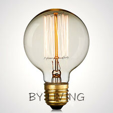 125MM E27 Thomas Edison Vintage Industrial Filament Globe Squirrel Bulb Clear