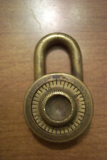 Junkunc Brothers combination lock padlock  PAT.1912 BRASS
