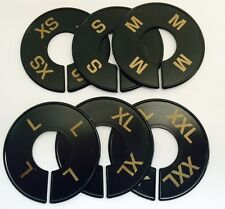 ROUND BLACK SIZE RING DIVIDERS GOLD PRINT XS-XXL (2 PCS PER SIZE) 12 PCS TOTAL