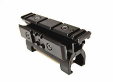 Airsoft Aluminium See Though Top & Side 20mm high weaver rail mount for MP5 G3