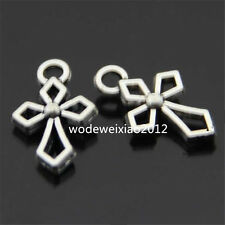 20x Retro Tibetan Silver Cross Pendant Charms Bead Accessories Wholesale  PL062