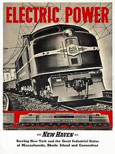 Voyage de transport ferroviaire de train électrique moteur new england usa Poster Print lv4370