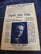 Partition Départ pour Liège  Emile Van Herck Marche